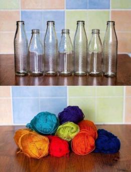yarn vases 2